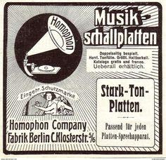 Original-Werbung / Anzeige 1907 - HOMOPHON PLATTEN - BERLIN - Ca. 80 X 80 Mm - Werbung