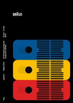 Systemsis an exhibition of commissioned poster designs and '60s Braun products,presented in a single grid at the Walter Knoll London showroom from 25 Nov – 31 Dec 2013.Theexhibition is curated bydas programmand produced in association withBraun.