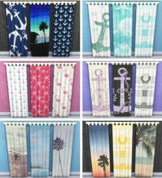 Sunshine & Roses Custom Content: Beach Themed Full Curtains • Sims 4 Downloads