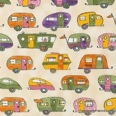 On the Road Summer by Robert Kaufman Fabrics