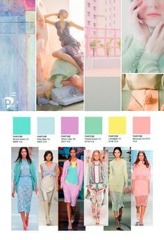 SS 2015 Color Trend - 2020 Fashions Woman's and Man's Trends 2020 Jewelry trends Pastel Fashion, Fashion Colours, Colorful Fashion, Fashion 2020, Look Fashion, Fashion Art, Fashion Design, Womens Fashion, Spring Fashion Trends