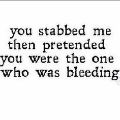 Stab you in the back