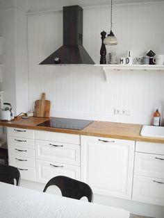 Beadboard.de   #Wandverkleidung #Holzverkleidung #Küche #keineFliesen  #backsplash #Fliesenspiegel