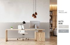 Decorare le pareti del salotto perfetto - guida e spiegazioni per colorare a righe orizzontali. Office Desk, Conference Room, Table, Furniture, Home Decor, Houses, Die Cutting, Desk Office, Decoration Home