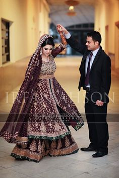 Love the colour of the bride's outfit