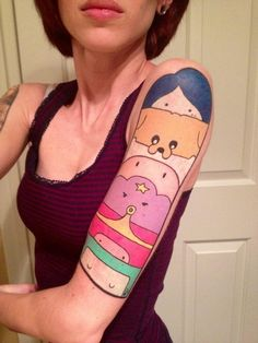 adventure time, arm, bemo, finn, jake, lsp, marceline, princess bubblegum, sleeve, tattoo