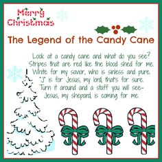 8 Best Images of Candy Cane Story Printable - Printable Candy Cane Story, Legend of the Candy Cane Story Printable and Christmas Candy Cane Poem Printable Christmas Arts And Crafts, Preschool Christmas, Christmas Candy, Homemade Christmas, All Things Christmas, Holiday Fun, Christmas Holidays, Christmas Ideas, Christmas Parties
