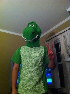Rex Toy Story costume, he'll yes!!
