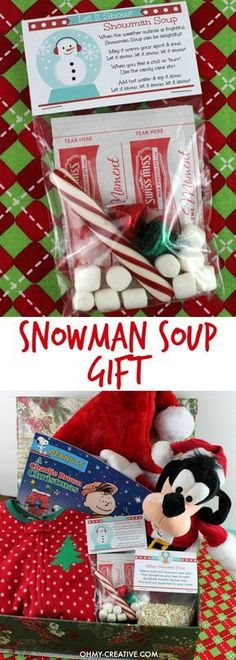 This Snowman Soup Gift Recipe is easy to make and a perfect handmade gift for the holidays! Adorable Snowman Soup Labels with snowman soup poem! Christmas Goodies, Holiday Fun, Christmas Holidays, Christmas Eve Box For Kids, Christmas Classroom Treats, Kids Christmas Stockings, Christmas Ideas, Hygge Christmas, Christmas Favors