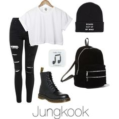 Jungkook Inspired w/ Dr. Martens by btsoutfits on Polyvore featuring mode, CC, Topshop, Dr. Martens, Steve Madden, Vans and J.Crew