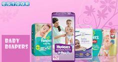Hurry up @ eSTOOR.com  Get Flat 15% Off on baby Dipers !!!