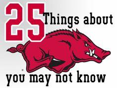 25 things about the Arkansas Razorbacks