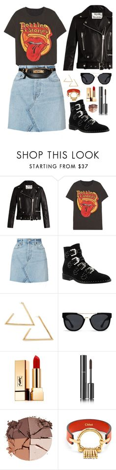 """""""street style #82: the new """"femme fatale"""""""" by veronicagnzlz on Polyvore featuring moda, Acne Studios, MadeWorn, RE/DONE, Givenchy, Quay, Yves Saint Laurent, Chanel, lilah b. y Chloé"""