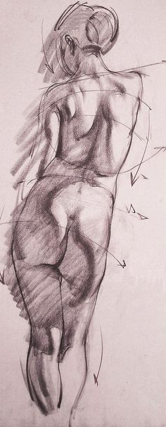 Professional Disney animator and instructor Danny Galieote's (American, b. 1968) Analytical Figure Drawing from Los Angeles Academy of Figurative Art. dannygalieote.com