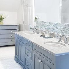 Cabinetry painted with Benjamin Moore Eclipse. Gorgeous rich blue/gray paint color.