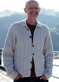 Knit this mens chunky cable jacket designed exclusively for Knitrowan by Martin Storey. Using our wonderful cotton drape yarn Softknit Cotton (cotton and polyamide), this wonderful textured jacket has a variety of cables and set in sleeves | English Yarns