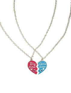 Sister Rhinestone Heart Necklace | Necklaces | Jewelry | Shop Justice
