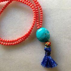 Turquoise stone necklace!