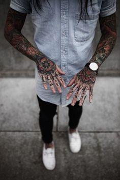 Magnifique Tatouage Homme Main Tatouage Pinterest Tattoos