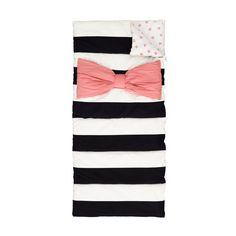 Sale ends soon. Shop Candy Bow Sleeping Bag for Kids. Sometimes you just want to wear a bow tie to bed. So we designed our Pink Bow Sleeping Bag. It's perfect for adding a touch of chic to your slumber party. Toddler Sleeping Bag, Toddler Nap, Personalized Candy, Land Of Nod, Bow Pattern, Textiles, Baby Store, Kids Bags, Pink Candy