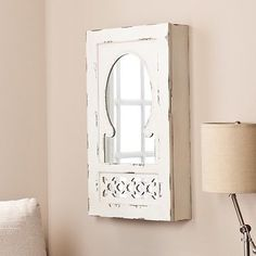 Wildon Home ® Davida Shabby Elegance Wall Mounted Jewelry Armoire with Mirror