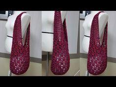 (코바늘)예쁘게만드는망태기가방. Crochet bag (한올스 부평한올뜨개방) - YouTube