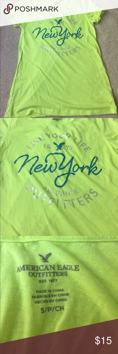 NWOT American Eagle tee NWOT American Eagle tee, let me know if you have any questions and make sure to make an offer! American Eagle Outfitters Tops Tees - Short Sleeve