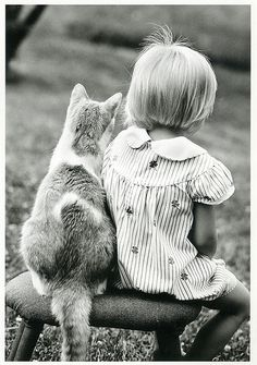 Girl and Cat by Ichabod