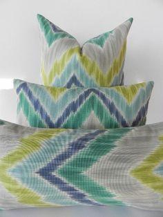 Braemore Ikat Chevron Decorative Pillow Cover by PillowChix, $32.00, etsy