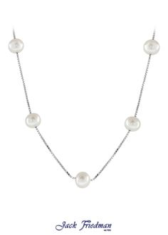 Silver box chain with fresh water pearls jackfriedman.co.za Water Pearls, Box Chain, Pearl Jewelry, Fresh Water, Beautiful Things, Necklaces, Jewellery, Rings, Silver
