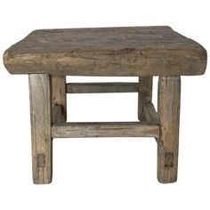Rustic Japanese Elm Stool or Small Table - Western Home Decor Living Room Crate End Tables, Diy End Tables, Small Tables, Wood Tables, Log Cabin Furniture, Rustic Wood Furniture, Western Furniture, Furniture Design, Farmhouse Table Chairs