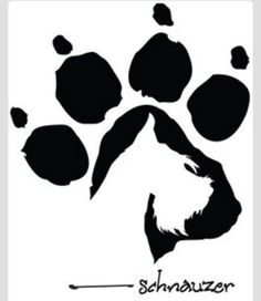 Cool Schnauzer paw print. I want this as my next tattoo! <3: