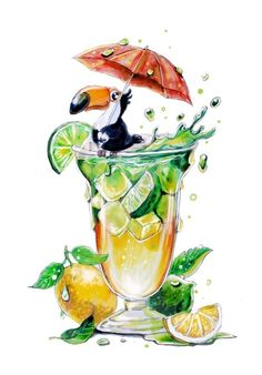 Sweet Drawings, Realistic Drawings, Food Art Painting, Desert Art, Character Design Animation, Arte Pop, Marker Art, Animal Drawings, Painting Inspiration