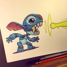 Image about drawing in Graffiti, Art by JJ on We Heart It Art Disney, Disney Kunst, Character Concept, Character Art, Concept Art, Graffiti, Arte Robot, 3d Art, Lilo And Stitch