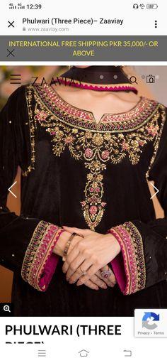 Pakistani Fancy Dresses, Pakistani Fashion Party Wear, Zardozi Embroidery, Kurta Designs Women, Embroidery Fashion, Neck Lines, Suits, Formal Dresses, Ali