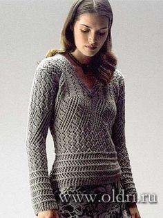 Ажурный пуловер для женщин