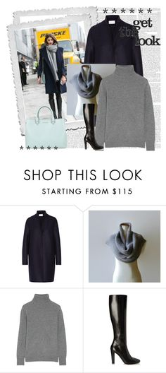 """Get the look"" by marianaypaula ❤ liked on Polyvore featuring Harris Wharf London, Equipment, Yves Saint Laurent and MICHAEL Michael Kors"