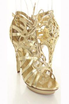 Brie Gold Metallic Heel $25.99