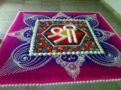 . Rangoli Designs Simple Diwali, Rangoli Designs Latest, Rangoli Designs Flower, Small Rangoli Design, Rangoli Border Designs, Rangoli Ideas, Colorful Rangoli Designs, Rangoli Designs Images, Flower Rangoli