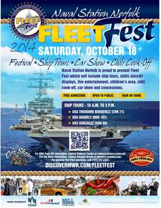 The Expedition - Base events Oct, Nov, Dec 2014 Naval Station Norfolk, Chili Cook Off, Free Admission, Car Show, Tours, Base, Events