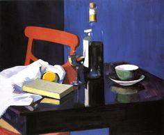 via Jan @geminicat7  'The Red Chair' Francis Campbell Bolleau (F.C.B.) Cadell, c.1928