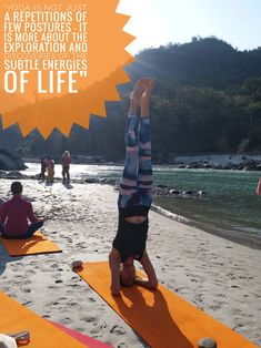 """""""YOGA IS NOT JUST A REPETITIONS OF FEW POSTURES - IT IS MORE ABOIT THE EXPLORATION AND DISCOVERIES OF THE SUBTLE ENERGIES OF LIFE"""" #YOGA #HEADSTAND #EXPLORATION #POSTURE #ENERGY #ASANA #HATHAYOGA #JEEVMOKSHAYOGAGURUKUL #TEACHERTRANINGINRISHIKESH   www.jeevmokshayoga.com Yoga Headstand, Head Stand, Rishikesh, Asana, Discovery, Explore, Life, Exploring"""