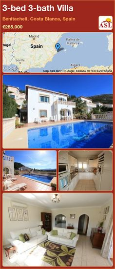 3-bed 3-bath Villa in Benitachell, Costa Blanca, Spain ►€285,000 #PropertyForSaleInSpain