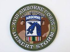 18th airborne corps | US Army XVIII 18th Airborne Corps Desert Storm Patch | eBay