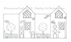 Shabby-Art-Boutique-DIY-Village-Shops-pink-terrace-house-pattern.jpg (600×361)
