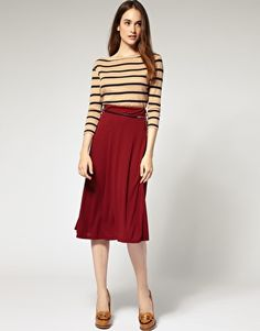 Enlarge River Island Plain Midi Skirt