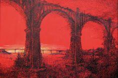 Мокринский мост  2011г. цветная  бумага, тушь,перо  60х80  (проект 10 лет Намасте).