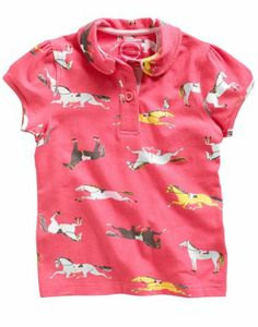 Joules Girls Polo Top Pink Pony (JnrLena): Amazon.co.uk: Clothing