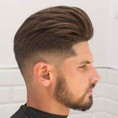 33 Cool Pompadour Fade Haircut 2018 - New Haircut Style Badass Hairstyles, Mens Hairstyles 2018, Cool Mens Haircuts, Daily Hairstyles, Top Hairstyles, Haircut Men, Haircut Style, Hairstyles Videos, Simple Hairstyles