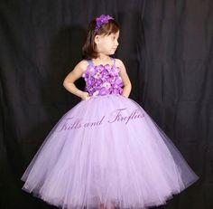 Lavender and Purple 2 Pc Flower Girl Dress by FrillsandFireflies